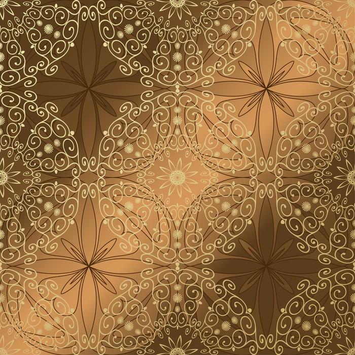 Vinylová Tapeta Arabeskue bezešvé pozadí zlato - Pozadí