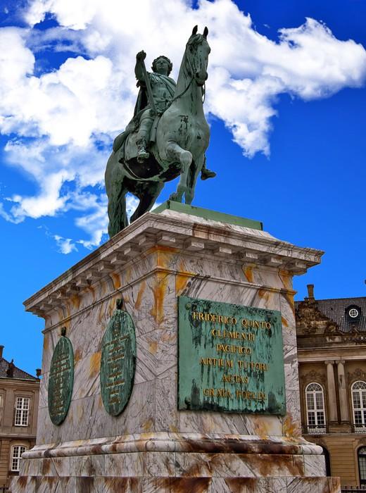 Vinylová Tapeta Socha de Frederick V Place du Palais d'Amalienborg - Evropa