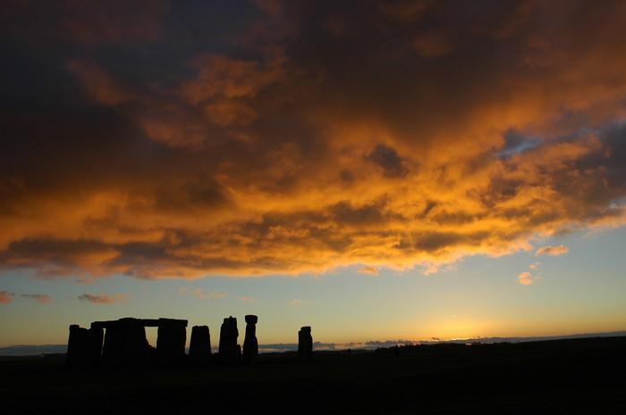 Vinylová Tapeta Stonehenge západ slunce - Evropa