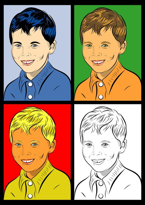 portrait pop art enfant