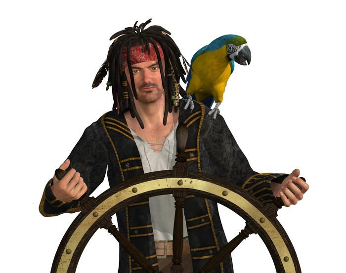 Vinylová Tapeta Pirate u kapitána Wheel - Značky a symboly