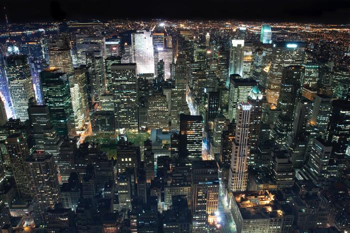 Vinylová Tapeta New York City at Night - Americká města