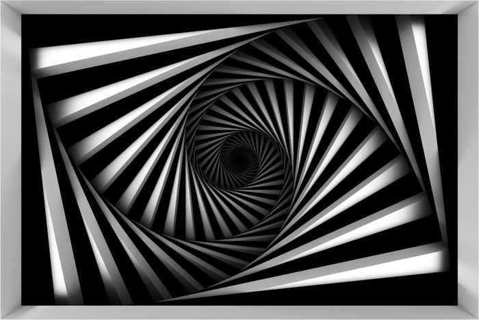 Vinylová fototapeta Černá a bílá spirála - Vinylová fototapeta