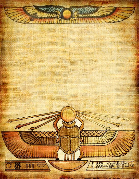 Vinilo pixerstick antiguo fondo de papel con la decoraci n for Decoracion egipcia