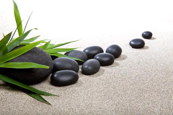 fotomural zen piedras negras y bamb250 � pixers174 vivimos