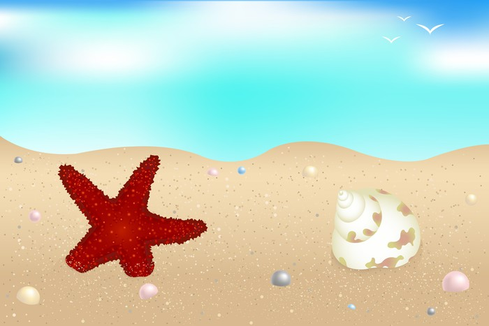 Seaside Vinyltapet - Akvatisk og Marine liv