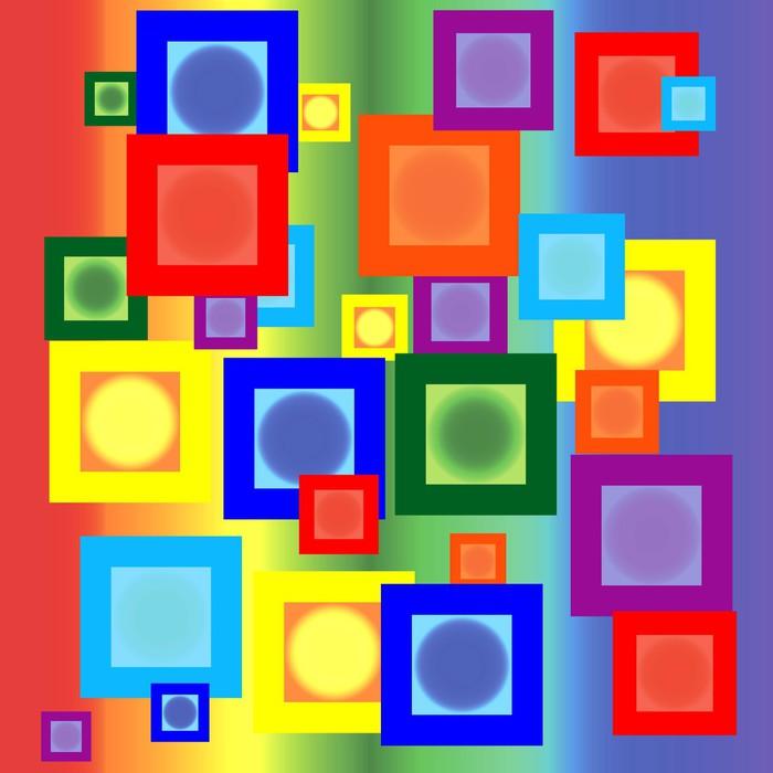 Vinylová Tapeta Duhové čtverce - Pozadí