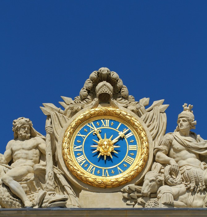 Vinyl-Fototapete Orologio Facciata Versailles - Europäische Städte