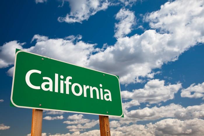 Vinylová fototapeta California Green Road Sign - Vinylová fototapeta