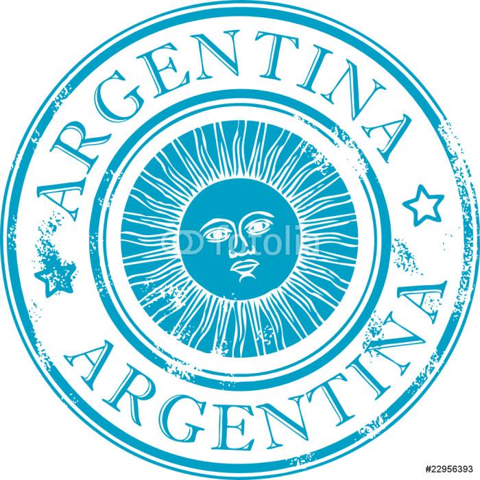 Vinylová Tapeta Grunge razítko se symbolem slunce, Argentina - Značky a symboly