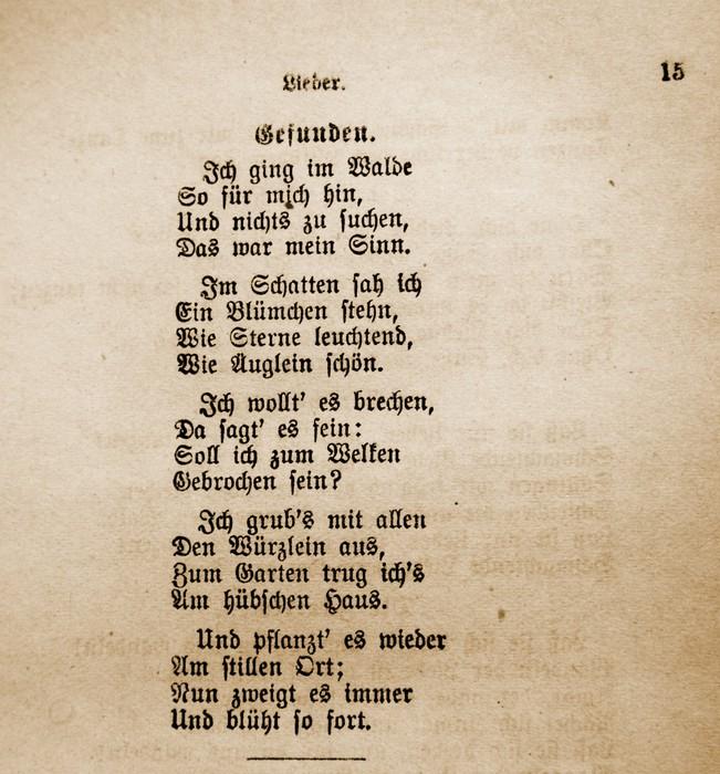 """Vinylová Tapeta """"Gefunden"""" von Goethe - Pohlednice"""