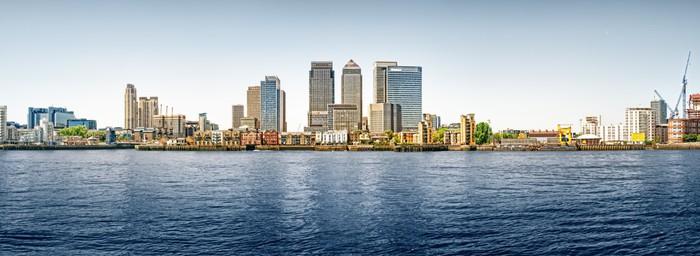 Vinylová Tapeta Panoramatické fotografie z Canary Wharf pohled od Greenwiche. - Evropská města