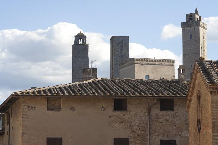 Vinylová Tapeta Středověké Mrakodrapy (věže San Gimignano). Italy, Europe - Evropa