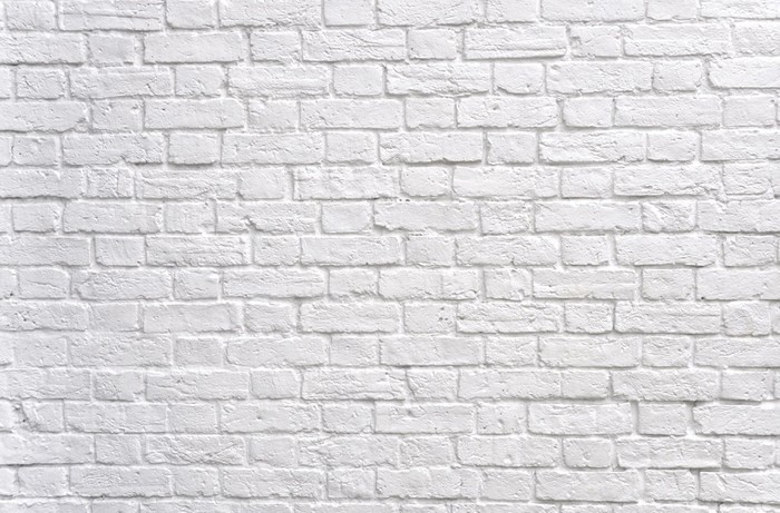 A white brick wall Wall Mural Pixers We live to change