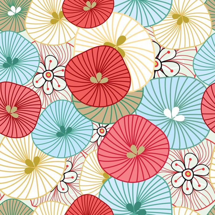 Vinil Duvar Kağıdı Çiçek arka plan -