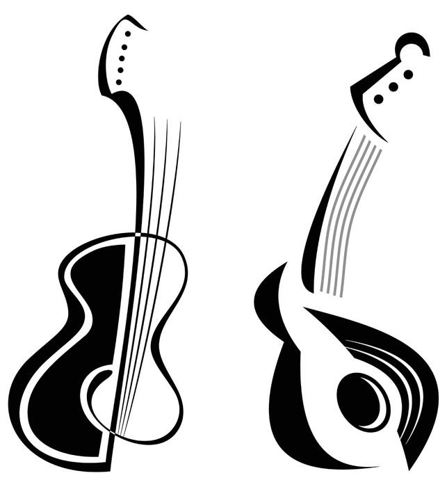 Vinylová Tapeta Kytara - Témata