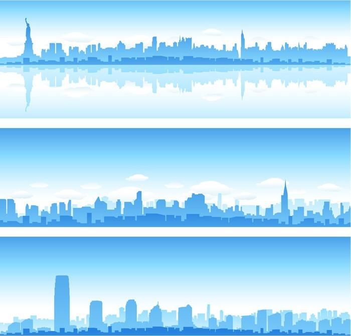 Vinylová Tapeta New york city banner - Americká města