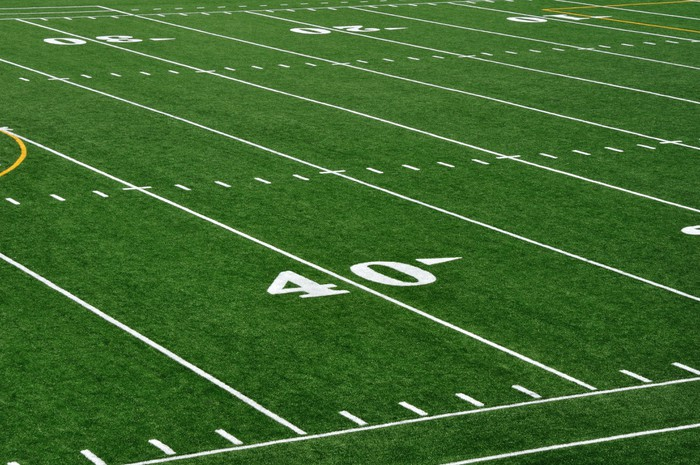 40 Yard Line On American Football Field Wall Mural   Vinyl   Team Sports Part 37