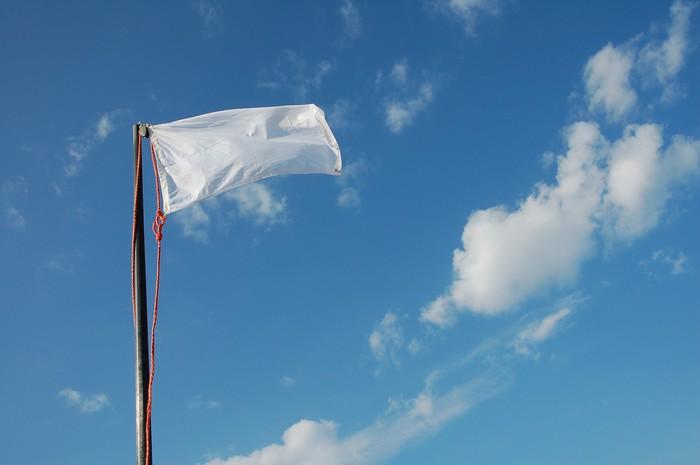 Nálepka Pixerstick Bandiera bianca - Život