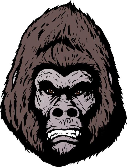 Vinilo Pixerstick Gorila enojado en un formato de libro de ...