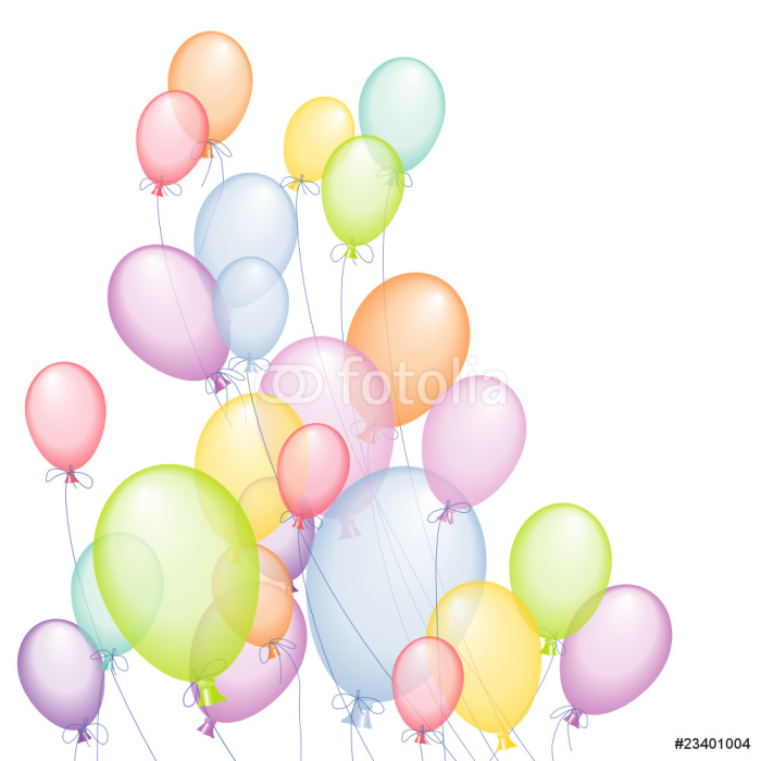 Vinylová Tapeta Bunte Luftballone - Slavnosti
