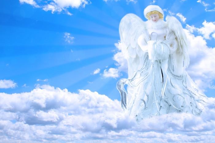 Vinylová Tapeta Anděl v nebi Modlit - Nebe