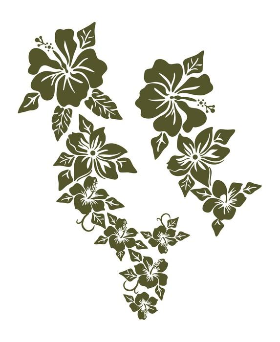 Fototapete Hibiscus Blumen-Design • Pixers® - Wir leben, um zu verändern