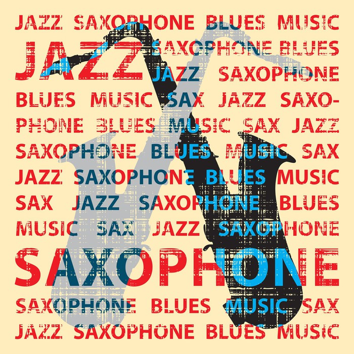 Vinylová Tapeta Jazz saxofon, ilustrace pro plakát, obal na CD atd. - Struktury