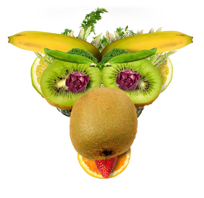 Tapeta Winylowa Cow fruktoza - Owoce