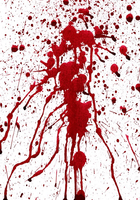 Bloody splashes Wall Mural - Vinyl -