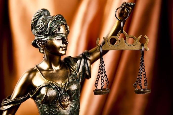 Tableau sur Toile Dame de la justice - Destin