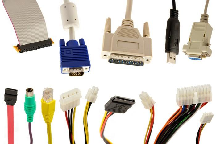 Papier peint connecteurs diff rents plug et c bles d for Papier peint pour ordinateur
