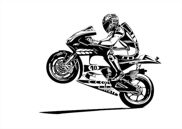Vinylová Tapeta Moto gp wheelie - Nálepka na stěny