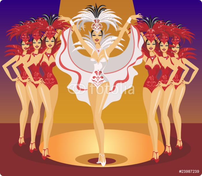 Vinylová Tapeta Kabaret Showgirls - Témata