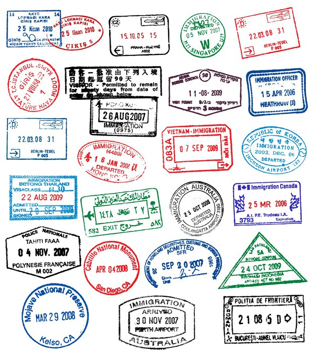 Passport Stamps Wall Mural Pixers 174 We Live To Change