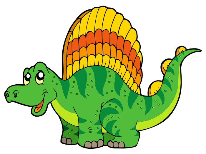 Vinylová Tapeta Cartoon malý dinosaurus - Nálepka na stěny