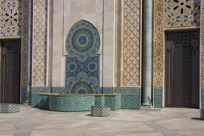 Vinylová Tapeta Casablanca - Moschea Hassan II - decorazioni esterne - Afrika