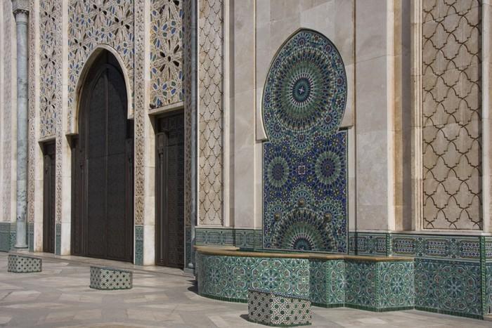 Vinylová fototapeta Casablanca - Moschea Hassan II - esterno - Vinylová fototapeta