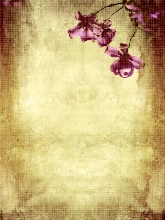 Tableau sur Toile Beau fond grunge avec magnolia - Thèmes
