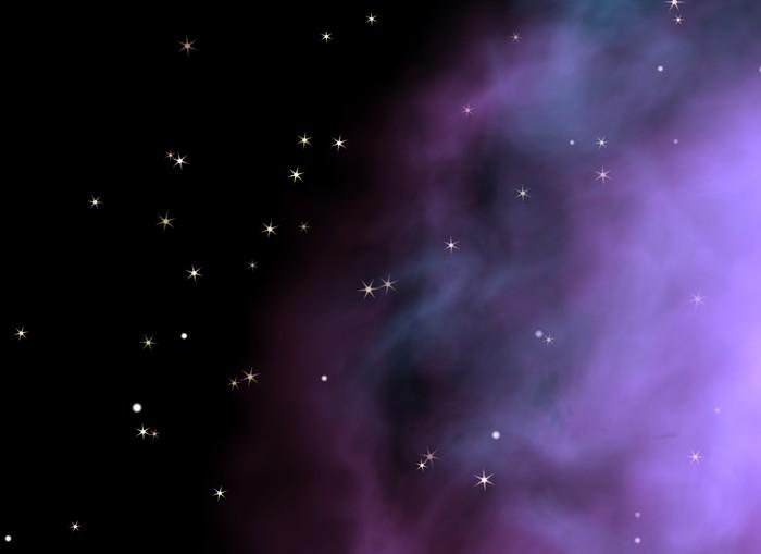 Vinylová Tapeta Hvězdném pozadí galaktický - Meziplanetární prostor