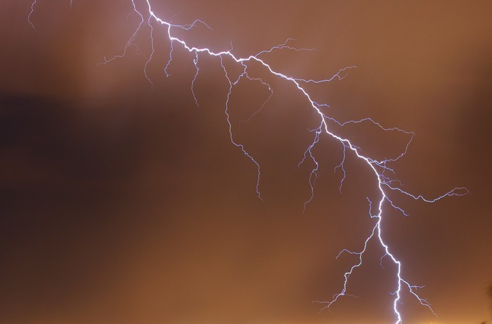 lightning Wall Mural • Pixers® • We live to change