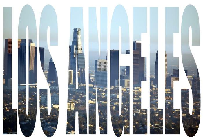 Vinylová Tapeta Los Angeles skyline - Amerika