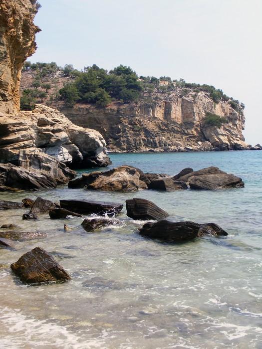 Vinylová Tapeta Thassos, plážové - Prázdniny