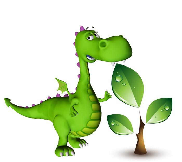 sticker dino b b dragon plante verte pixers nous vivons pour changer. Black Bedroom Furniture Sets. Home Design Ideas