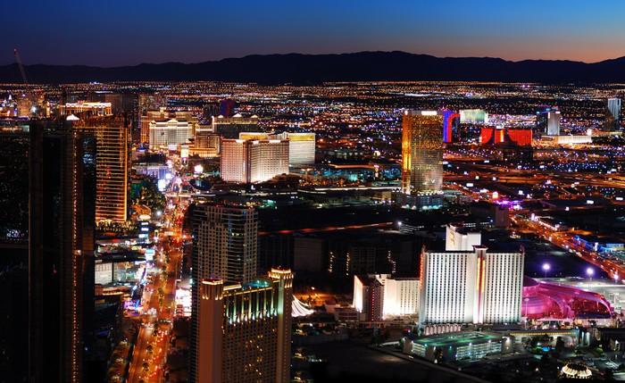 Las Vegas strip aerial view Wall Mural Pixers We live to change