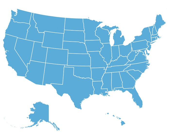 United States Vector Map Wall Mural • Pixers® • We live to change