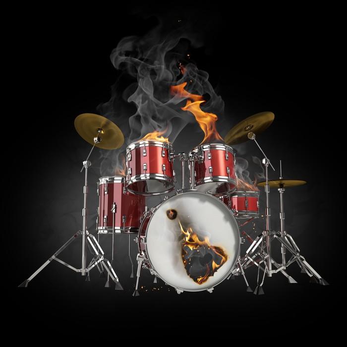 fototapete drums im feuer pixers wir leben um zu ver ndern. Black Bedroom Furniture Sets. Home Design Ideas