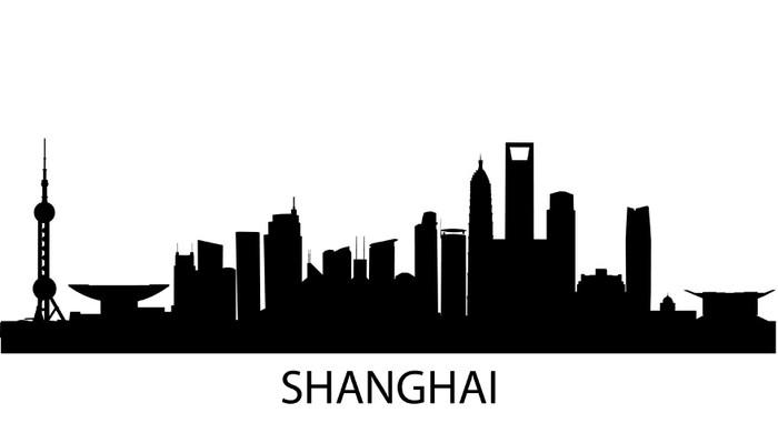 Vinylová Tapeta Shanghai skyline - Asijská města