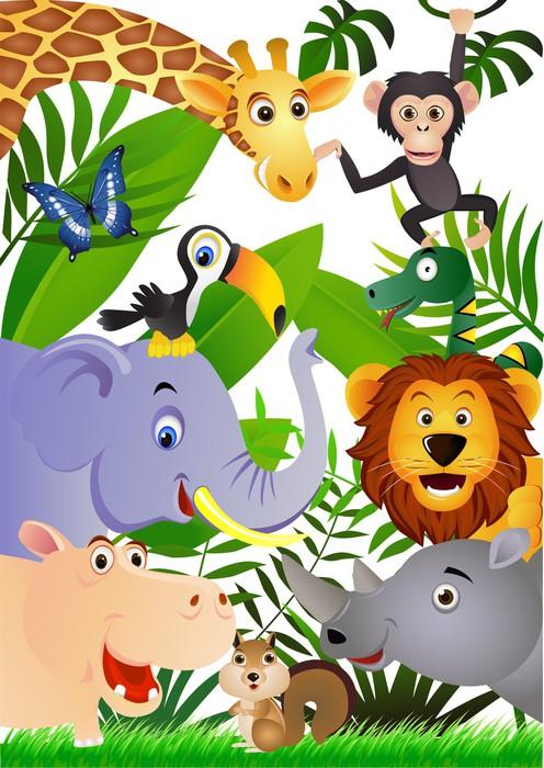 Adesivo cartone animato animale pixers viviamo per il