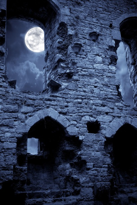 Vinyltapete Spooky Burg - Traurigkeit